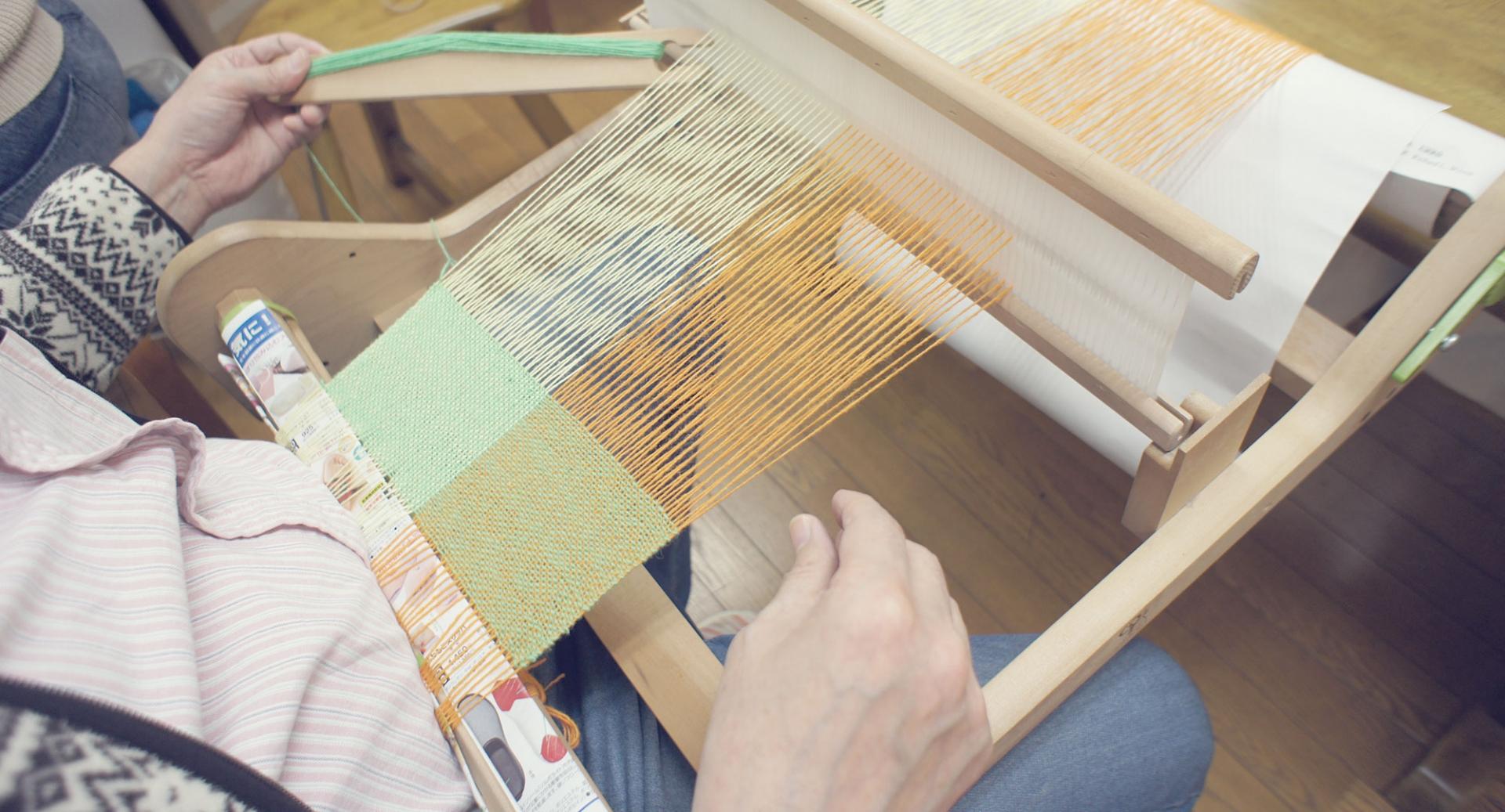 手工芸品を作ることもセサミ工房での仕事のひとつ